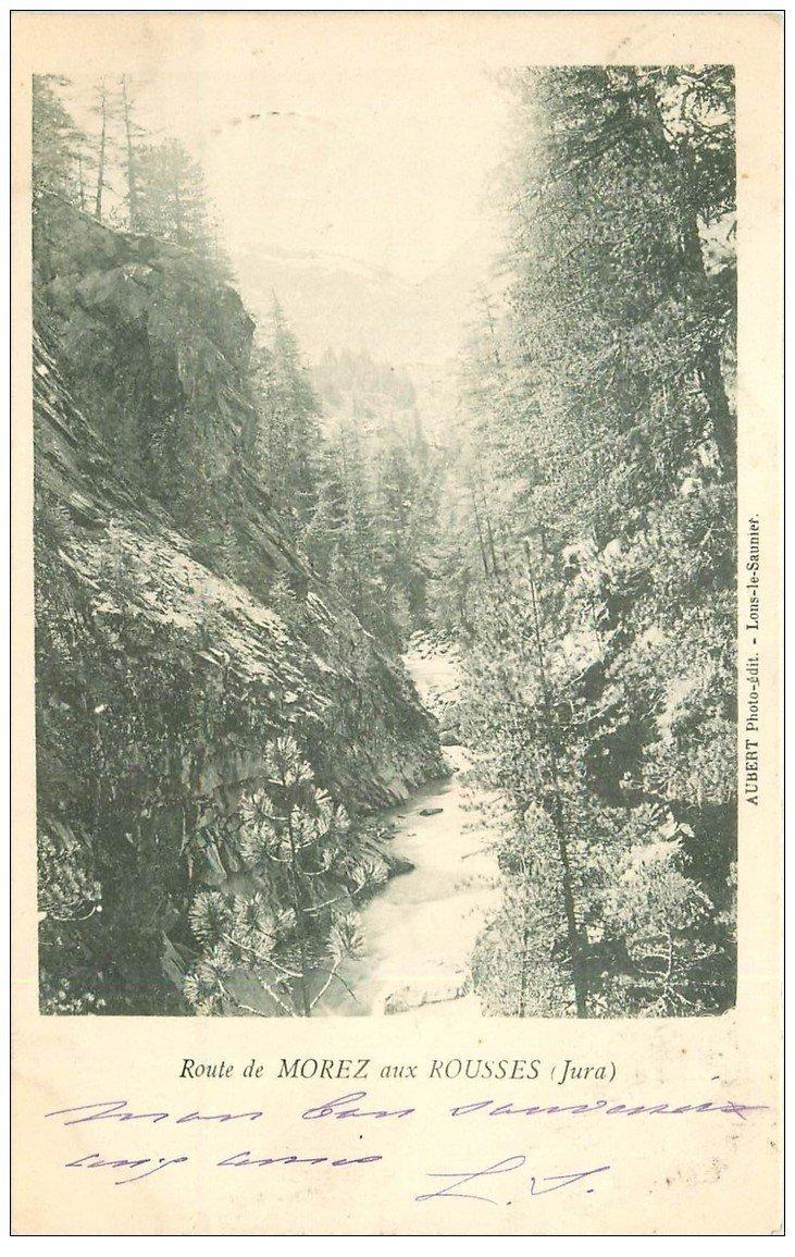 carte postale ancienne 39 MOREZ. Route aux Rousses 1901