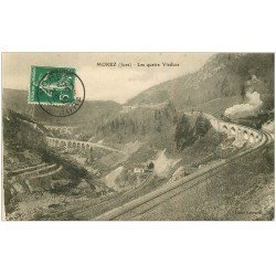 carte postale ancienne 39 MOREZ. Train les quatre Viaducs 1913