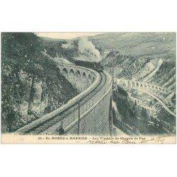 carte postale ancienne 39 MOREZ. Train Viaduc du Chemin de Fer