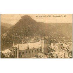 carte postale ancienne 39 SAINT-CLAUDE. Cathédrale 1922