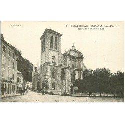 carte postale ancienne 39 SAINT-CLAUDE. Cathédrale Saint-Pierre