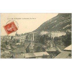 carte postale ancienne 39 SAINT-CLAUDE. La Grenette Rue Neuve 1908