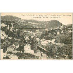 carte postale ancienne 39 SAINT-CLAUDE. Pont sur Tacon
