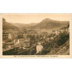 carte postale ancienne 39 SAINT-CLAUDE. Vue générale et Viaduc