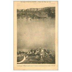 carte postale ancienne 73 ABBAYE D'HAUTECOMBE. Route Tour du Lac et d'Ontex
