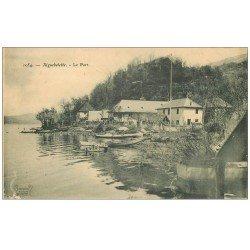 carte postale ancienne 73 AIGUEBELETTE. Le Port 1906