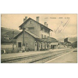 carte postale ancienne 73 AIME. La Gare