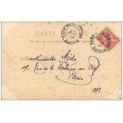 carte postale ancienne 73 AIX-LES-BAINS. Arc Campanus. Timbre 10 Centimes 1902