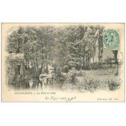 carte postale ancienne 73 AIX-LES-BAINS. Barque bords du Tillet 1903
