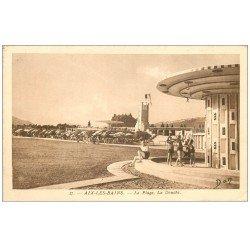 carte postale ancienne 73 AIX-LES-BAINS. Douche de la Plage 1935