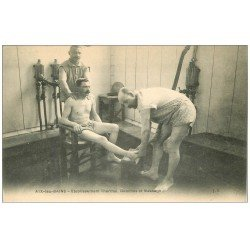 carte postale ancienne 73 AIX-LES-BAINS. Douches et Massages Etablissement Thermal