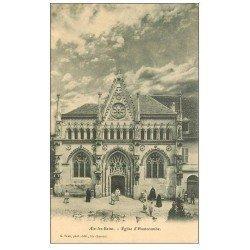 carte postale ancienne 73 AIX-LES-BAINS. Eglise d'Hautecombe avec Moines