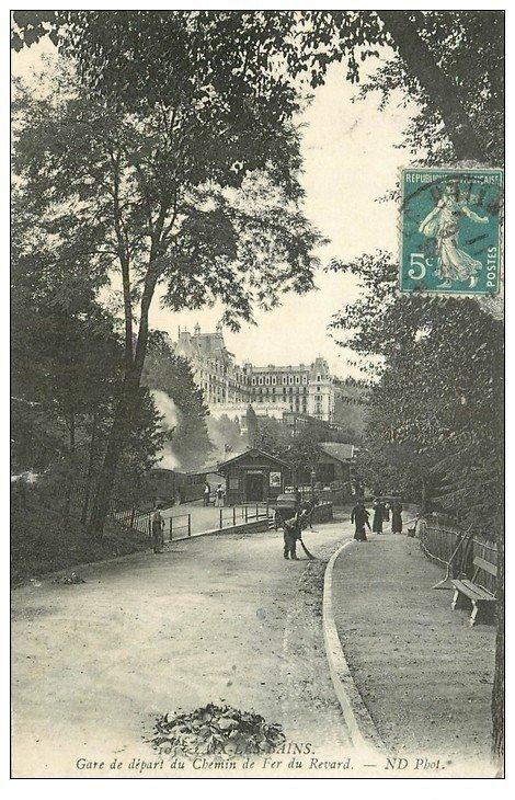 carte postale ancienne 73 AIX-LES-BAINS. Gare Chemin de Fer du Revard 1911