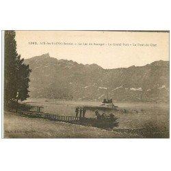 carte postale ancienne 73 AIX-LES-BAINS. Grand Port Lac du Bourget