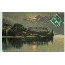carte postale ancienne 73 AIX-LES-BAINS. Hautecombe de Nuit 1911