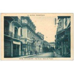 carte postale ancienne 73 AIX-LES-BAINS. Hôtel des Postes rue Davat 1929