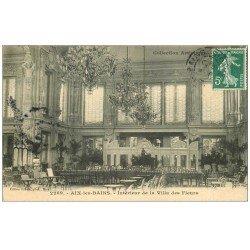 carte postale ancienne 73 AIX-LES-BAINS. Intérieur Villa des Fleurs 1906
