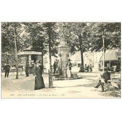 carte postale ancienne 73 AIX-LES-BAINS. Kiosque à Eau et Fontaine Place des Bains 1916