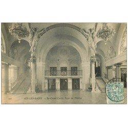 carte postale ancienne 73 AIX-LES-BAINS. Le Grand Cercle Foyer du Théâtre 1906