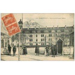 carte postale ancienne 73 ALBERTVILLE. Caserne Chasseurs Alpins 1921