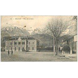 carte postale ancienne 73 ALBERTVILLE. Place de la Gare 1907
