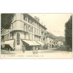 carte postale ancienne 73 ALBERTVILLE. Quai des Allobroges 1905 Maison de la Belle Jardinière