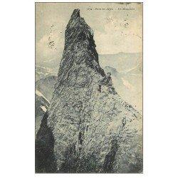 carte postale ancienne 73 AUTRES. Alpiniste sur Monolithe 1921