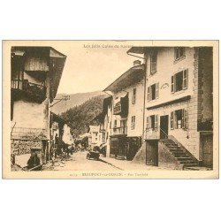 carte postale ancienne 73 BEAUFORT-SUR-DORON. Rue Centrale
