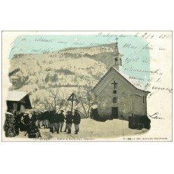 carte postale ancienne 73 BELLENTRE. Halte des Chasseurs Alpins du 158° de ligne 1903