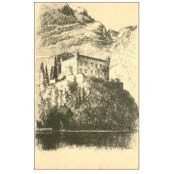 carte postale ancienne 73 BOURDEAU. Le Château d'après Richier