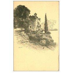 carte postale ancienne 73 BOURDEAU. Le Château et Cyprée d'après Richier