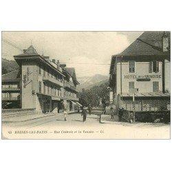 carte postale ancienne 73 BRIDES-LES-BAINS. Hôtel de la Vanoise Rue Centrale