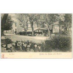 carte postale ancienne 73 BRIDES-LES-BAINS. La Parc bien animé