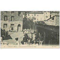 06 FONTAN. Au Cantonnement, Chasseurs Alpins pendant la Soupe 1914