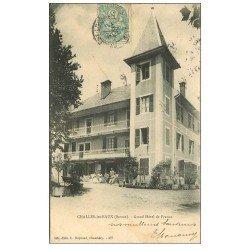 carte postale ancienne 73 CHALLES-LES-EAUX. Grand Hôtel de France 1903