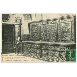 carte postale ancienne 73 CHAMBERY. Buffet Sacristie Cathédrale 1912