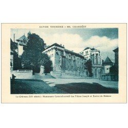 carte postale ancienne 73 CHAMBERY. Château et Monument de Maistre