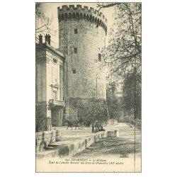 carte postale ancienne 73 CHAMBERY. Château et Tour ancien Manoir des Sires 1927