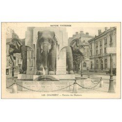 carte postale ancienne 73 CHAMBERY. Fontaine des Eléphants n°1428