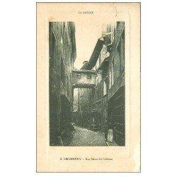 carte postale ancienne 73 CHAMBERY. Rue Basse du Château 1935. Papier velin style Parchemin