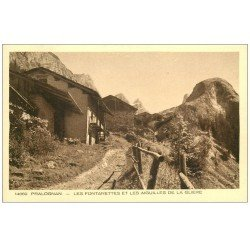 carte postale ancienne 73 PRALOGNAN. Fontanettes Aiguilles Glière