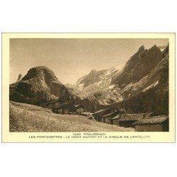 carte postale ancienne 73 PRALOGNAN. Fontanettes Mont Marion Cirque Larcellin