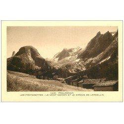 carte postale ancienne 73 PRALOGNAN. Fontanettes. Mont Marion Cirque Larcellin
