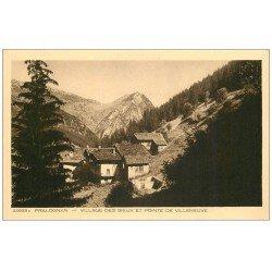 carte postale ancienne 73 PRALOGNAN. Village des Bieux Pointe Villeneuve