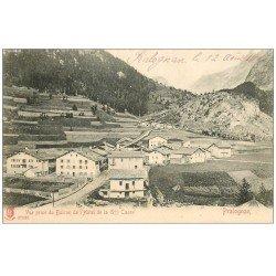carte postale ancienne 73 PRALOGNAN. Vue du Balcon Hôtel de la Grande-Casse 1904