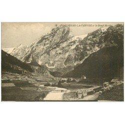 carte postale ancienne 73 PRALOGNAN-LA-VANOISE. Grand Marchet et Promeneurs