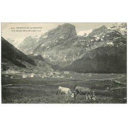 carte postale ancienne 73 PRALOGNAN-LA-VANOISE. Grand Marchet et Vaches aux Pâturages