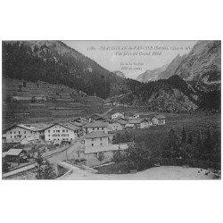 carte postale ancienne 73 PRALOGNAN-LA-VANOISE. Vue du Grand Hôtel. Carte bleutée en réalité...