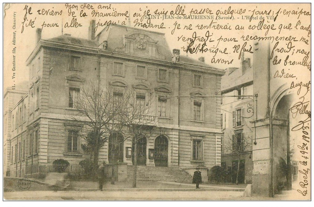 73 saint jean de maurienne h tel de ville 1903. Black Bedroom Furniture Sets. Home Design Ideas