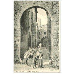 carte postale ancienne 06 VENCE. Porte d'Orient avec âne